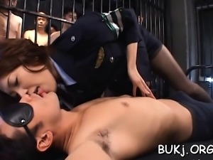Adorable teacher tries cocks in all holes and bukkake