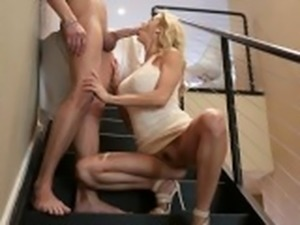 Squirting MILF Gets Creampie From Sleepwalking Son