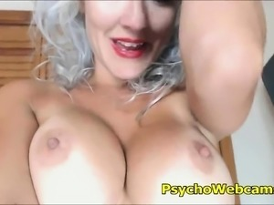 Grey MILF Wet and So Horny Without a Cock