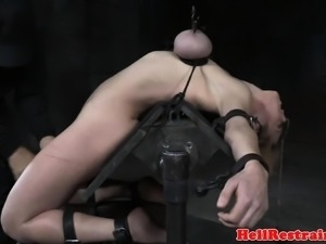 Faketit submissive punished anally in bdsm