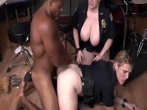Attractive milf Raw video grasps cop plowing a deadbeat dad.
