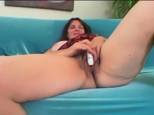 Big breasted mom Shoshanna has a hairy cunt ready for some young meat