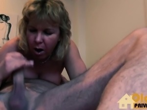 Mature girl gets old cock