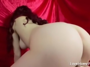 Babe with an amazing busty body gets fucked and cummed on her tits